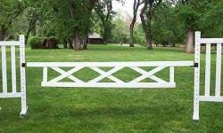"10' x 18"" Triple X Gate (Second) Horse Jumps"