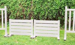 10' x 3' Vertical Wall, PVC Horse Jumps