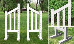 5' Angle Picket Wing Standard - Pair Horse Jumps