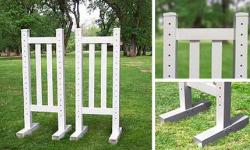 5' Picket Wing Standards - Pair Horse Jumps