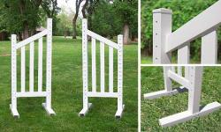 6' Angle Picket Wing Standard - Pair Horse Jumps